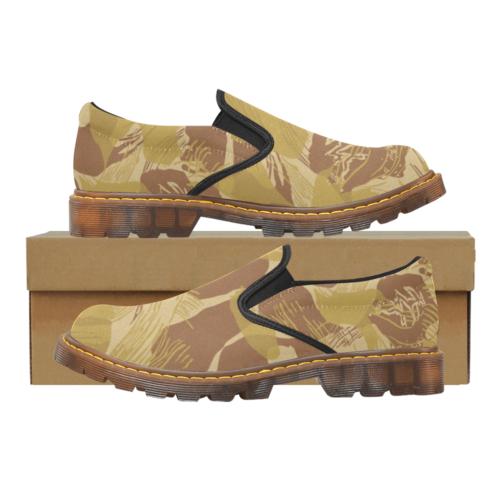 Rhodesian Brushstroke experimental Desert Camouflage Martin Men's Slip-On Loafer