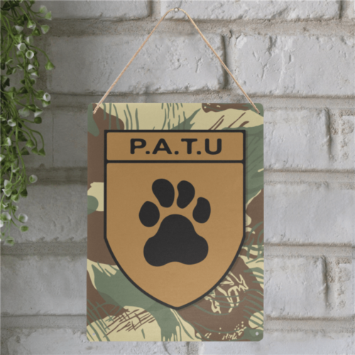 "Rhodesian P.A.T.U patch Metal Tin Sign 12""x16"""