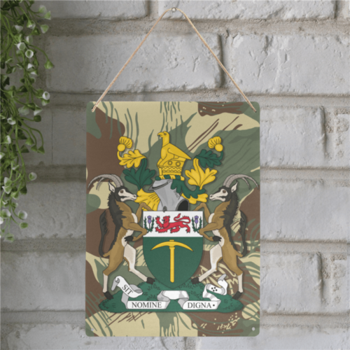 "Rhodesian Coat Of Arms Metal Tin Sign 12""x16"""