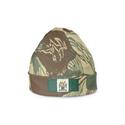 Rhodesian Brushstrokes Camouflage With Flag Beanie Hats