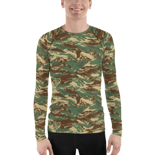 Fictional Rhodesian tigerstripes camouflage Men's Rash Guard