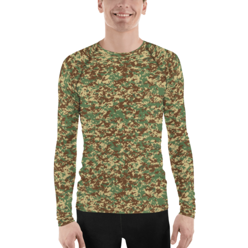 Fictional Rhodesian Bush Digital camouflage Men's Rash Guard