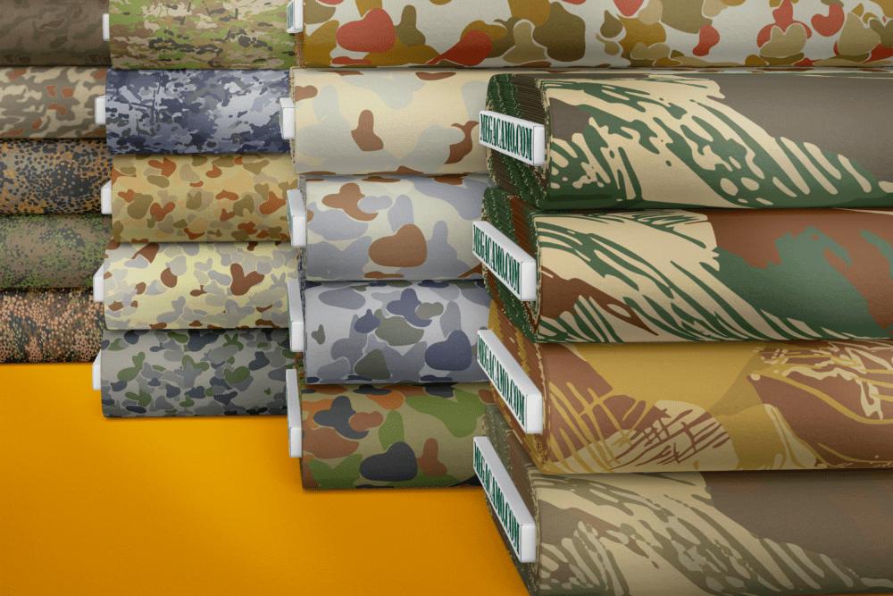 camo printed fabrics